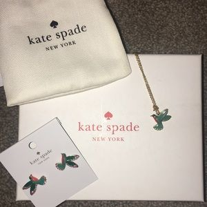 Kate Spade Hummingbird necklace & earring set.